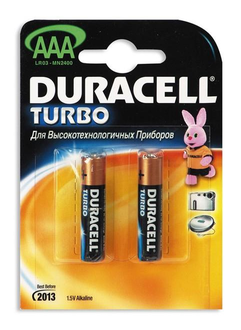Duracell Батарейка  LR03-2BL Turbo AAA 2 шт